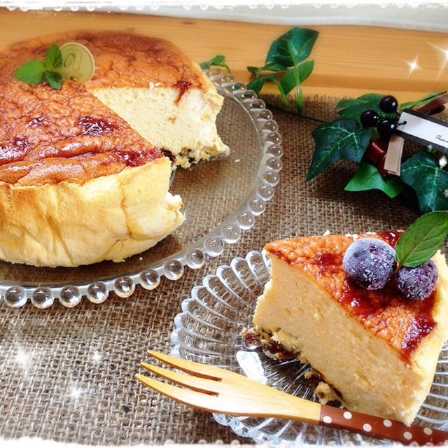朝パックdeクッキングぅ(笑)~ラムレーズン*スフレチーズケーキ♥~