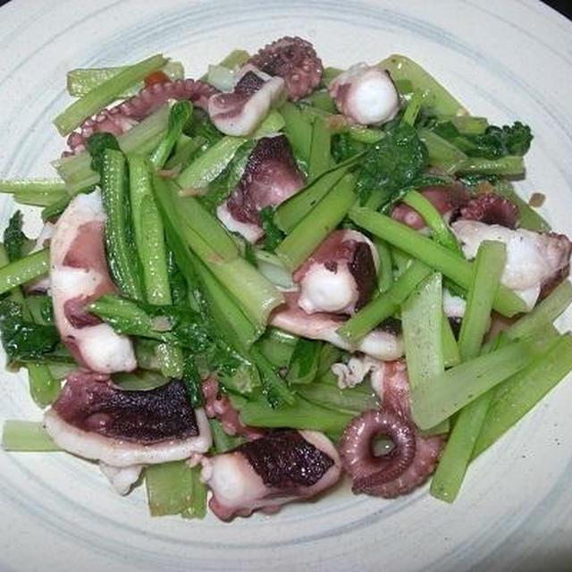 ◎[炒め物]たこと小松菜のペペロン炒め