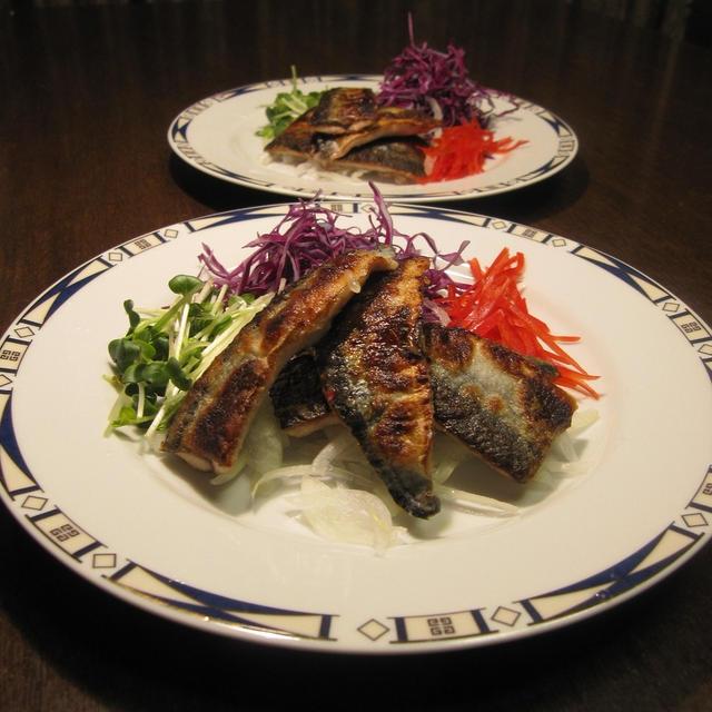 秋刀魚のいも床漬け 豚肉の重ね焼き