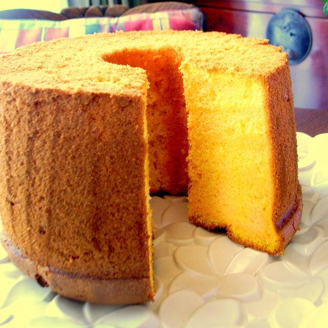 にんじんとアーモンドで・・・ふわふわシフォンケーキ
