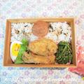 週末しごと -お弁当は 牡蠣フライ- by おとめさん