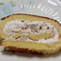 健康法師のスィートポテト&栗渋皮煮入りロールケーキ