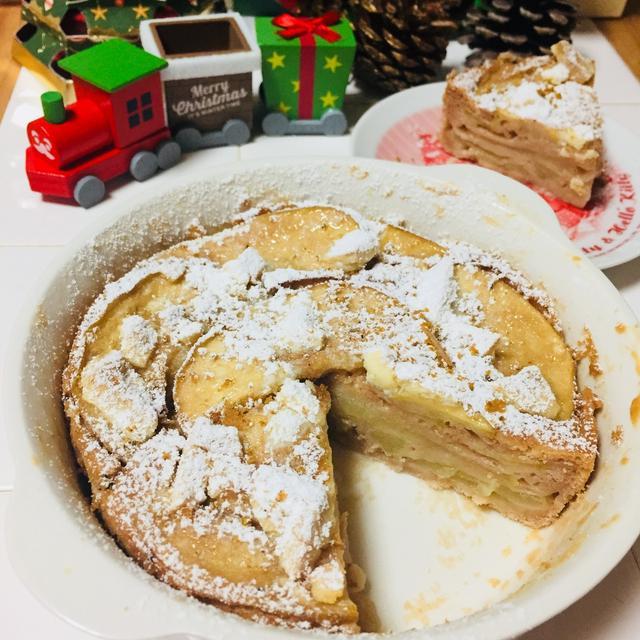 卵・バター不使用♪ホットケーキミックスでリンゴのガトーインビジブル♡
