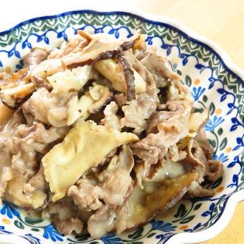 干し椎茸の旨味◎牛肉ときのこのクリーム煮