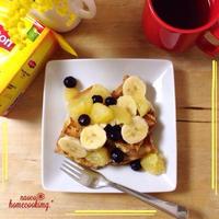 元気になる*モニフル&短時間でできる*フレンチトースト♪ 「ひらめき朝食」レシピモニター