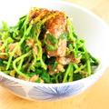 簡単☆サバ缶と豆苗のピリ辛七味ごま和え