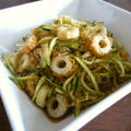 【簡単レシピ】海藻麺とちくわの梅肉入り中華サラダ♪