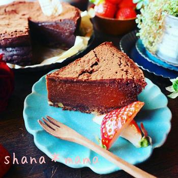 予定外❤⁉と、今年のバレンタインはこれで決まり♪超絶濃厚生チョコケーキ♪