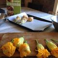 カボチャの花のオーブン焼き