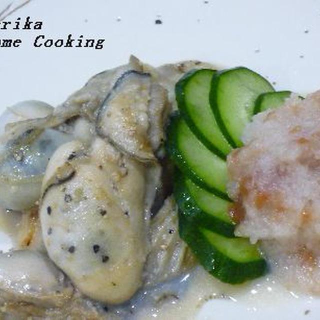 さっぱりと美味しい! 『牡蠣ステーキ・梅おろし添え』