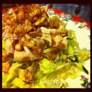 豚しゃぶと春キャベツの辛旨香味ソース