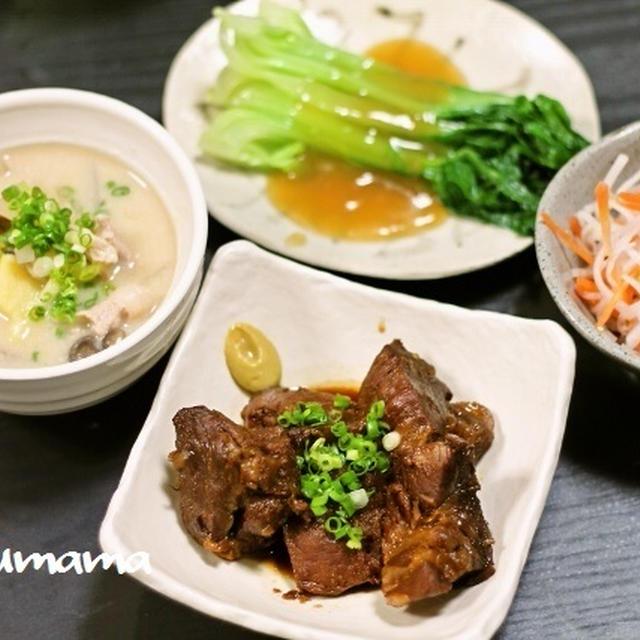 豚の角煮 / 青梗菜の一番好きな食べ方 / 男子中学生弁当
