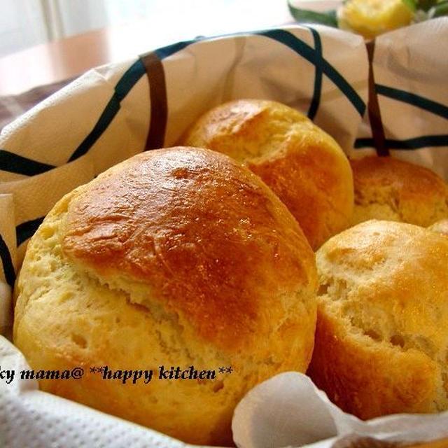 ホットケーキミックスで☆ふわふわパン