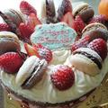 チョコと苺のバースデーケーキ