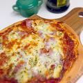 ランチにミートソースピザ