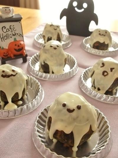 オーブン不要♪かぼちゃオレオおばケーキ