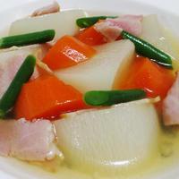大根とベーコンのスープ煮<優しい食感とうま味>