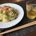 【時短・簡単】カニかまとレタスの炒飯