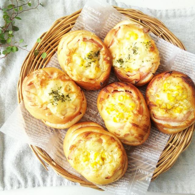 ハム&コーンのマヨチーズパン