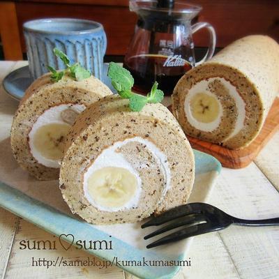 バナナ×珈琲♥初めての♥簡単・本格ロールケーキ