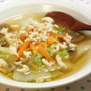 白菜と鶏肉の生姜スープ☆