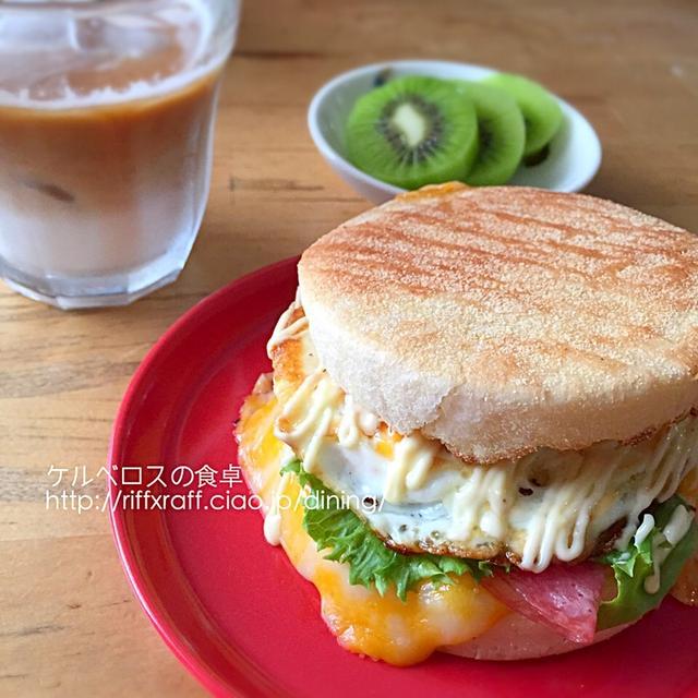 米粉マフィンのサンドイッチ
