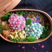 梅雨シーズン到来!「#紫陽花弁当」でお弁当は晴れやかに♪