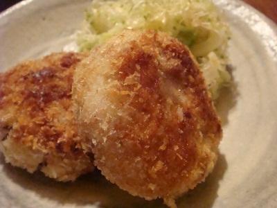 ひえと里芋のコロッケ