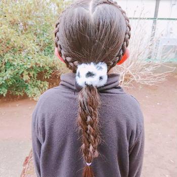 ☆ハート編み込みからの5つ編み☆