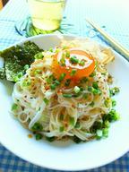 シンプル素麺☆黄身漬けのせ
