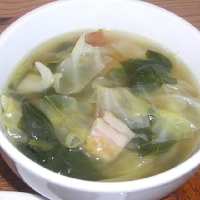 ほうれん草とキャベツのスープ