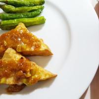 厚揚げの梅肉味噌焼き