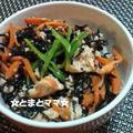 ほんだしと魚肉ソーセージで簡単つまみ☆&つくれぽ『鉄分補給に☆ひじき人参豆腐丼』