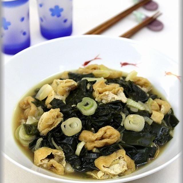 【リクエストおつまみレシピ】ワカメと油揚げの炒め煮&エノキのタラコバター和え