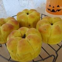 かぼちゃパン♪クリームコロッケサンド・いちじくジャムサンド♪