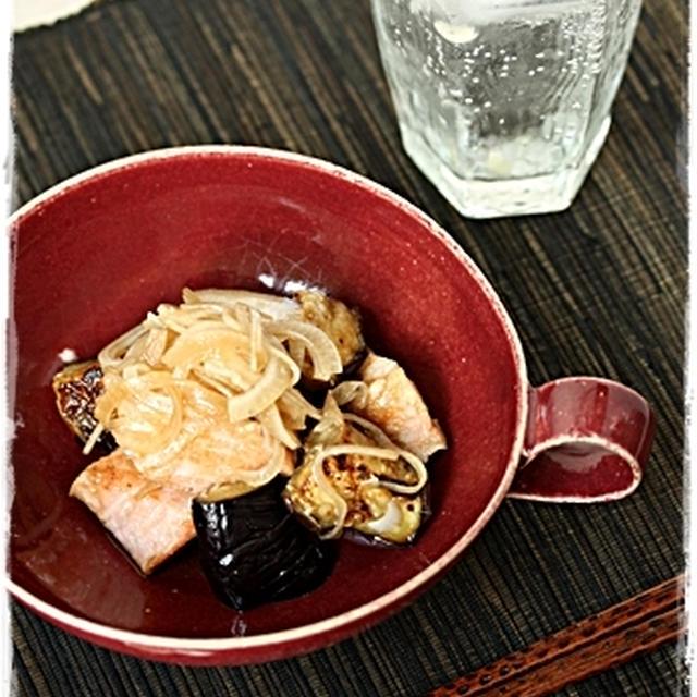 秋鮭・秋茄子を使って♪ご飯がすすむ、バルサミコマリネ