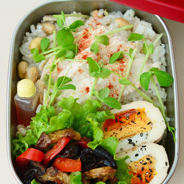 11月5日 木曜日 大豆入りシンガポールチキンライス&煮卵