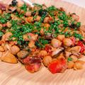 ギリシャ風ひよこ豆とイカの煮込み