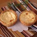 【3ステップレシピ】ホットケーキミックスでサクサク簡単♪チーズクリームのエッグタルト☆毎日のおやつ、持ち寄り、ホワイトデーに♪