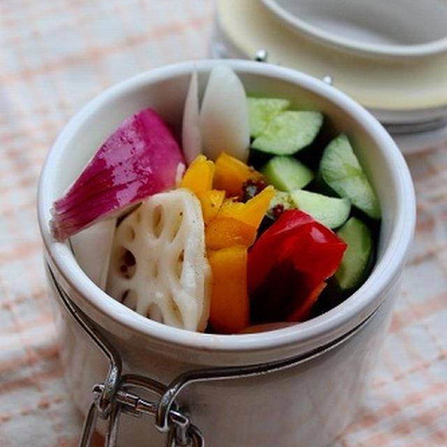 彩り野菜の簡単ピクルス