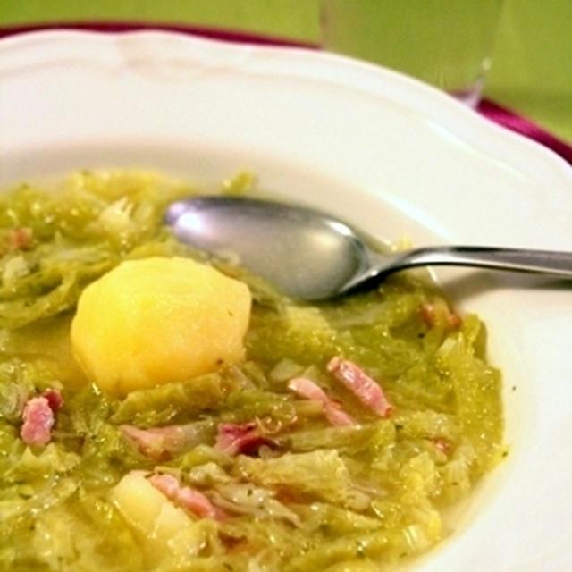 ちりめんキャベツとジャガイモのスープ