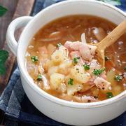 とろ〜り♡ベーコンポテトポタージュ【#簡単 #節約 #時短 #ミキサー不要 #マッシャー不要 #食べるスープ #スープ】