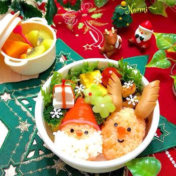 サンタとトナカイのおにぎり弁当&クリスマス準備