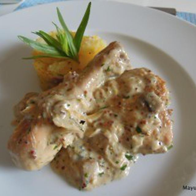 鶏肉のクリームチーズ煮 Cream Cheese & Dijon Chicken