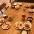 【挽き肉レシピ】合挽き肉で簡単サイコロステーキ!と、念願の初物野菜で♡