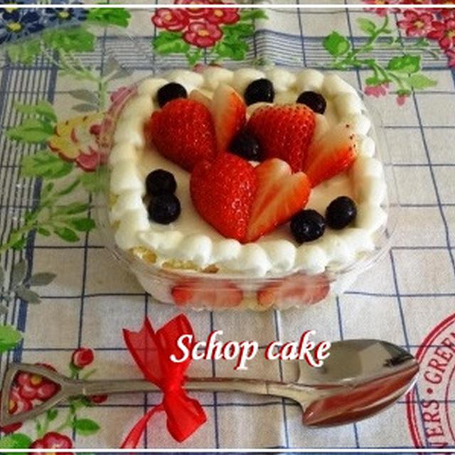 春色☆イチゴのスコップケーキ