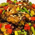 四川風牡蠣の豆豉炒め