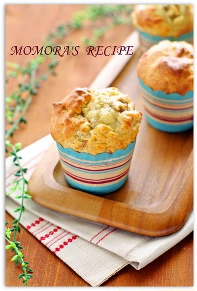 卵・砂糖・オイル不使用♡ホットケーキミックスで簡単お菓子♪フカフカもっちりヘルシー豆腐バナナマフィン