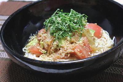 13/07/27 トマトキムチ素麺