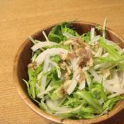 燻製風ベーコンドレッシングのサラダ